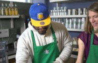 "Marshawn Lynch has a ""Beast Mode"" coffee at Starbucks"