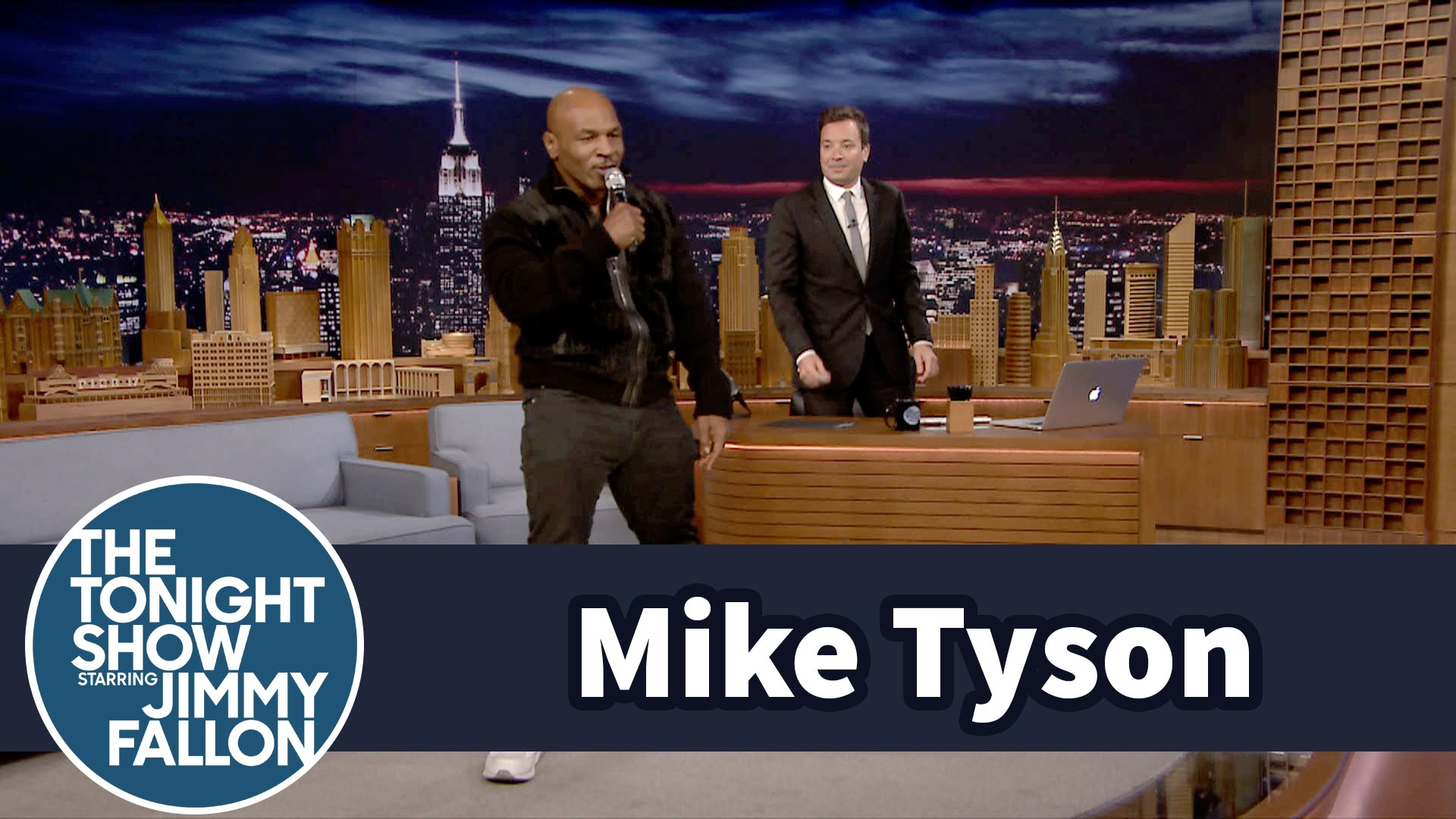 Mike Tyson sings & dances to
