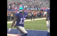 Odell Beckham busts out some pre-game dance moves