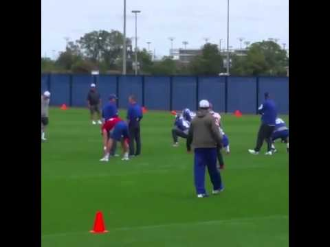 Odell Beckham Jr. dance stretches at practice