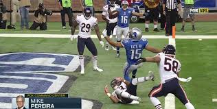 What this a catch? Golden Tate tipped ball for interception ruled a touchdown
