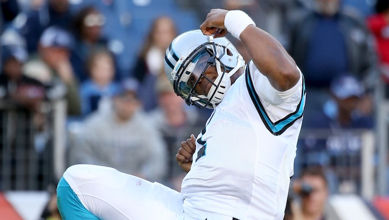 Cam Newton says to stop him if you don't want him to celebrate