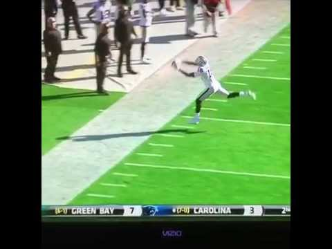 Announcer admires Michael Crabtree's ability to 'suck in these balls'