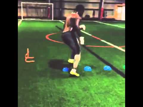 Cleveland Browns hopeful Monte Gaddis shows off incredible footwork