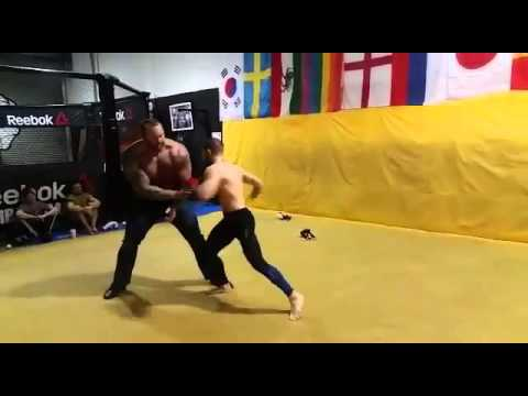 Conor McGregor spars with