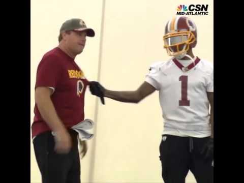DeSean Jackson gives Redskins head coach Jay Gruden a