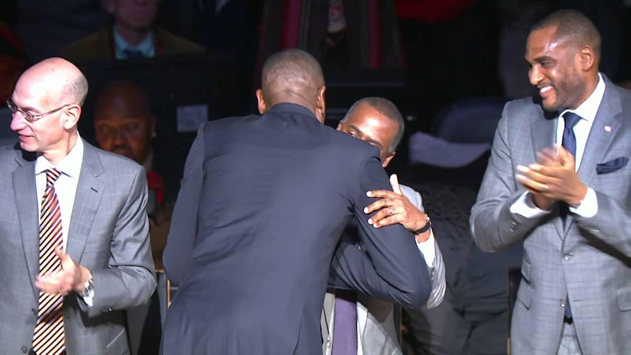 Dikembe Mutombo Atlanta Hawks jersey retirement ceremony