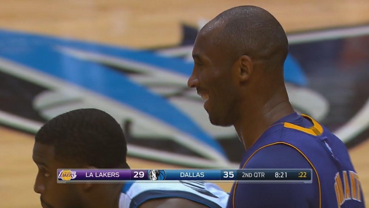 Dirk Nowitzki takes Kobe Bryant to school & makes him laugh over it