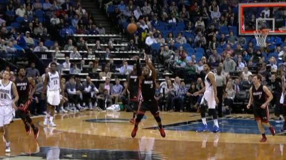 Dwyane Wade drills half court buzzer beater