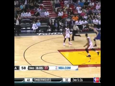 Dwyane Wade draws a foul call by stare down at the ref