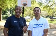 Can Stephen Curry beat his dad Dell in a game of H-O-R-S-E?