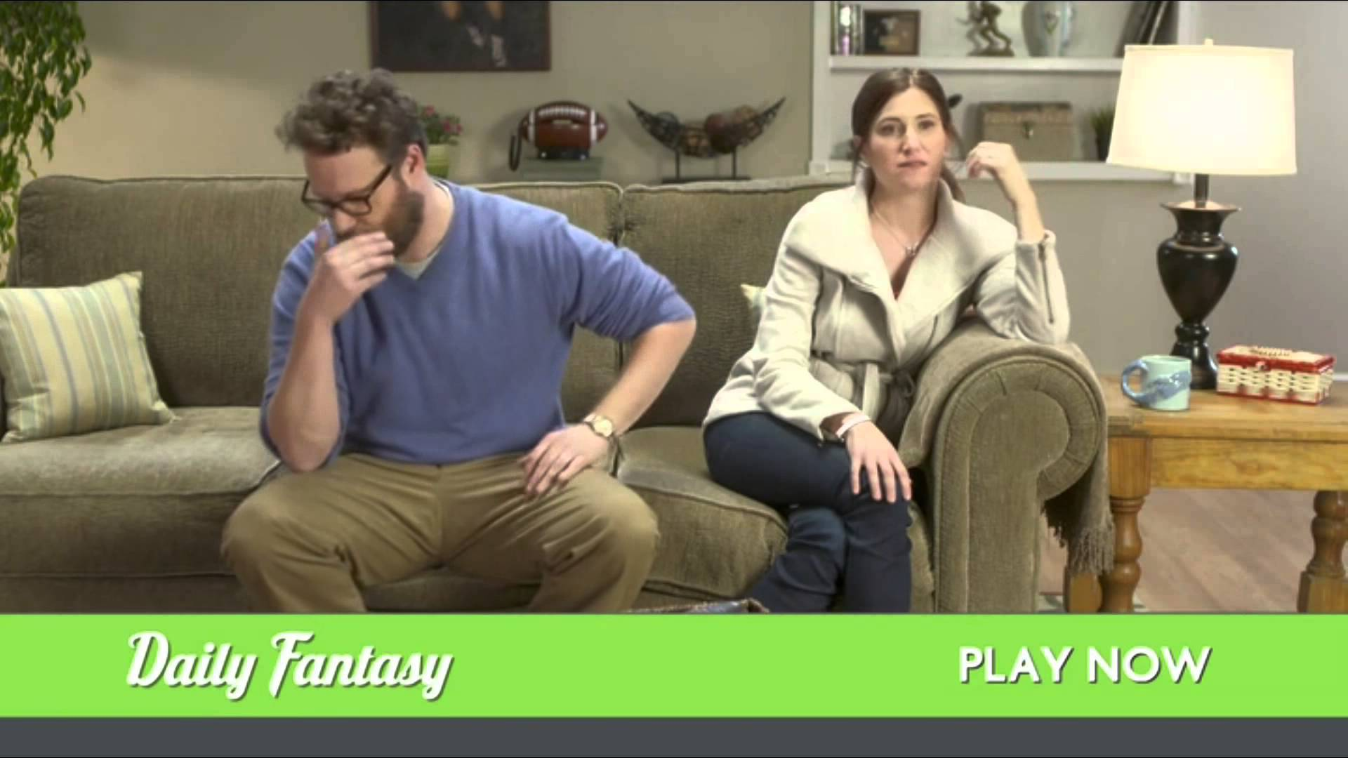John Oliver's hilarious Daily Fantasy Sports commercial starring Seth Rogen