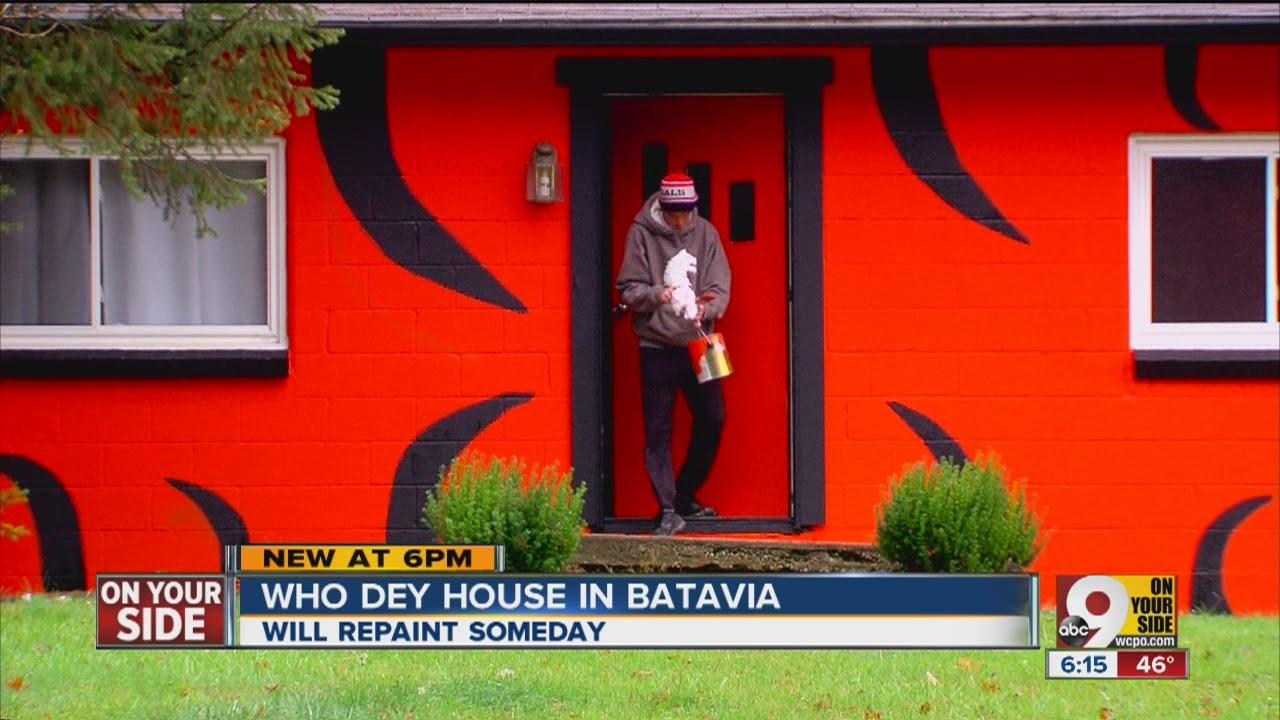 Long-suffering Bengals fan paints house orange and black