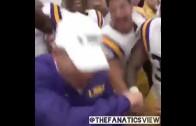 LSU head coach Les Miles hits a dab!