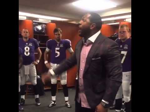 Ray Lewis gives intense pre-game speech to the Baltimore Ravens