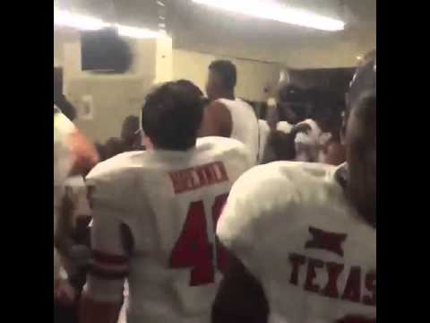 Texas Tech goes wild in the locker room following win against Texas