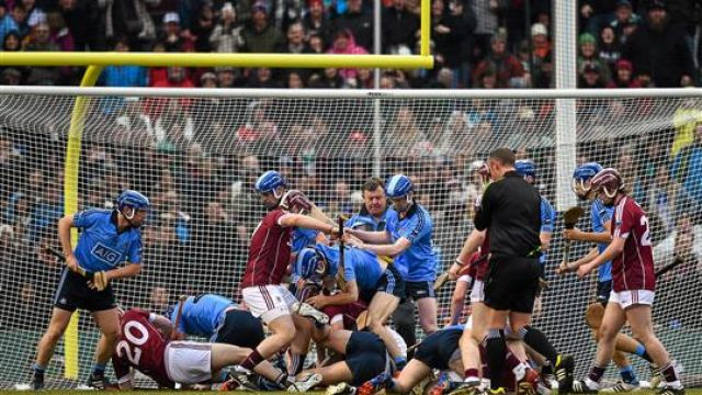 Massive brawl in the sport of