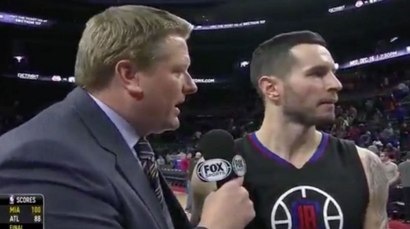 J.J. Redick abruptly leaves interview mid-sentence