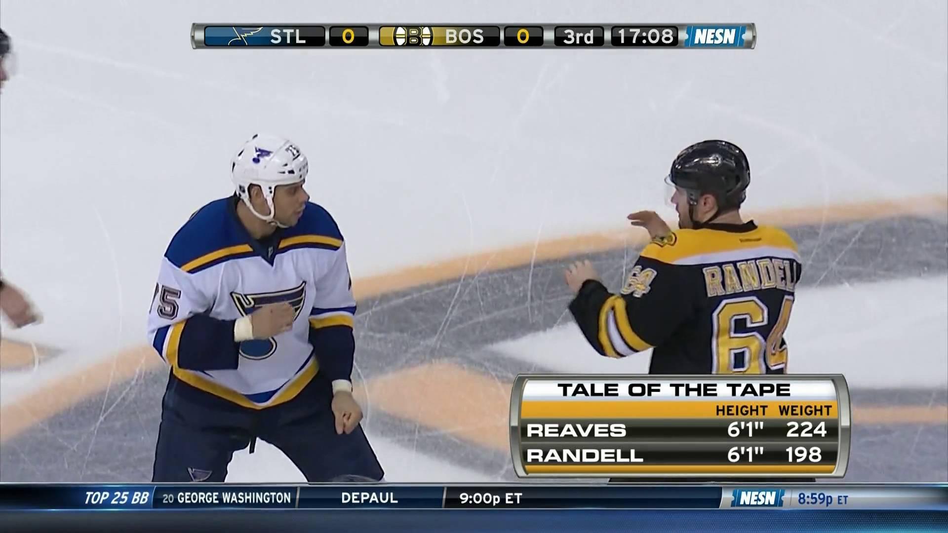 Boston Bruins announcer sings