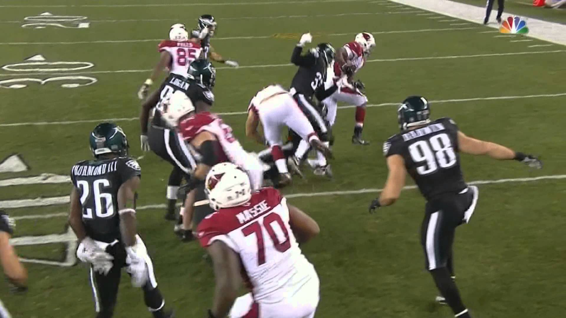 Cardinals RB David Johnson goes beast mode on the Eagles