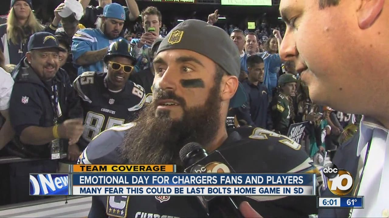Chargers safety Eric Weddle explains emotions at possible last home game in San Diego
