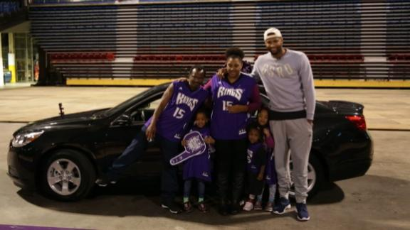 DeMarcus Cousins surprises family with a new car