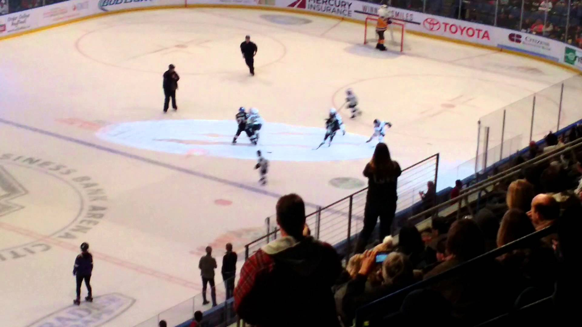 Hockey youngsters drop the gloves for a line brawl