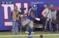 Odell Beckham Jr. kicks ball after missing catch