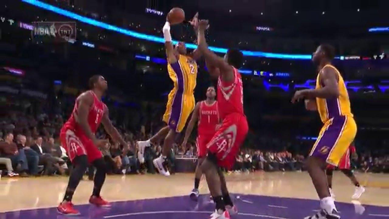 Kobe Bryant throws down the slam over Clint Capela