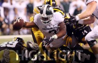 L.J. Scott scores game-winning touchdown for Michigan State with 33 seconds left