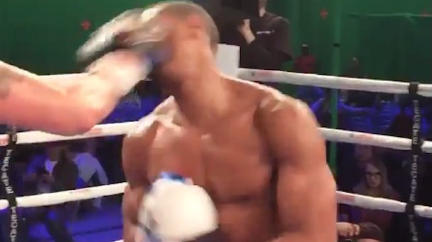 Actor Michael B. Jordan took real punches filming the movie Creed