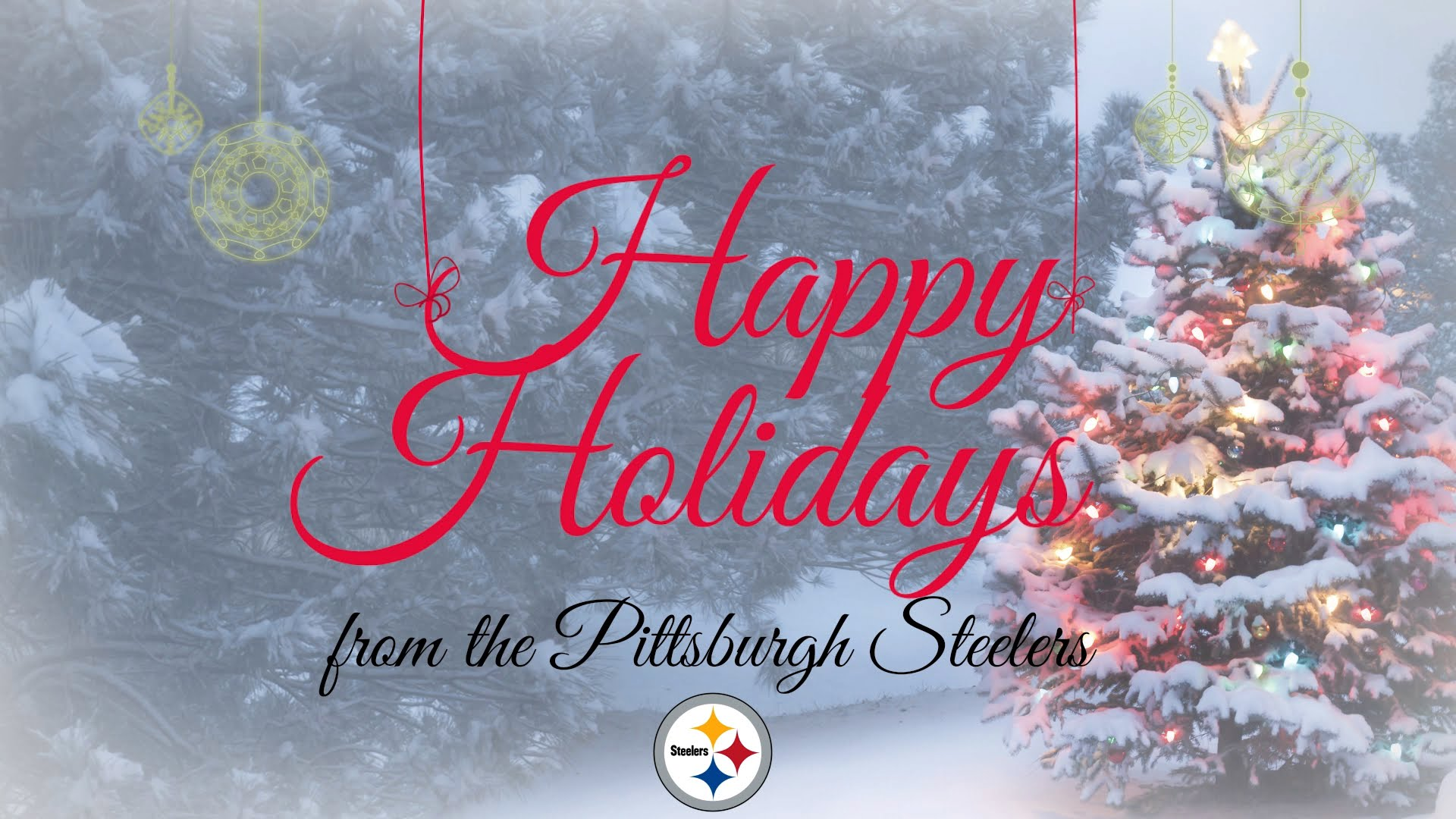 Pittsburgh Steelers sing a Christmas Carol