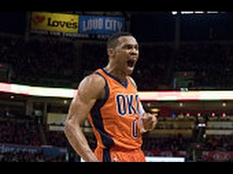 Russell Westbrook scores a buzzer beater after trick in bounds play