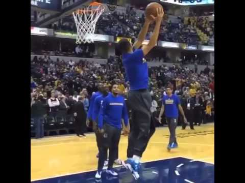 Steph Curry shows off his hops
