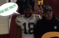 "Randall Cobb yells ""You like that!"" after Packers win over Redskins"