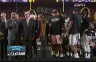 Alabama wins 2015 National Championship (Trophy Presentation)
