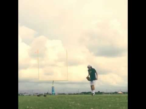 Amazing field goal trick shot with a football