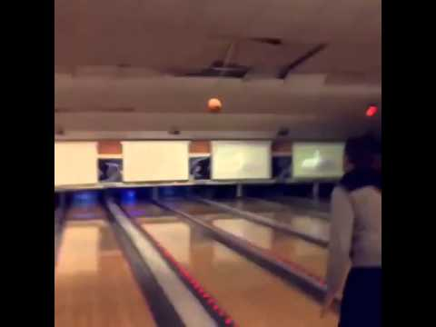 Bowler hits the roof on failed bowling attempt