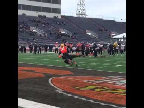 Braxton Miller with impressive moves at the Senior Bowl