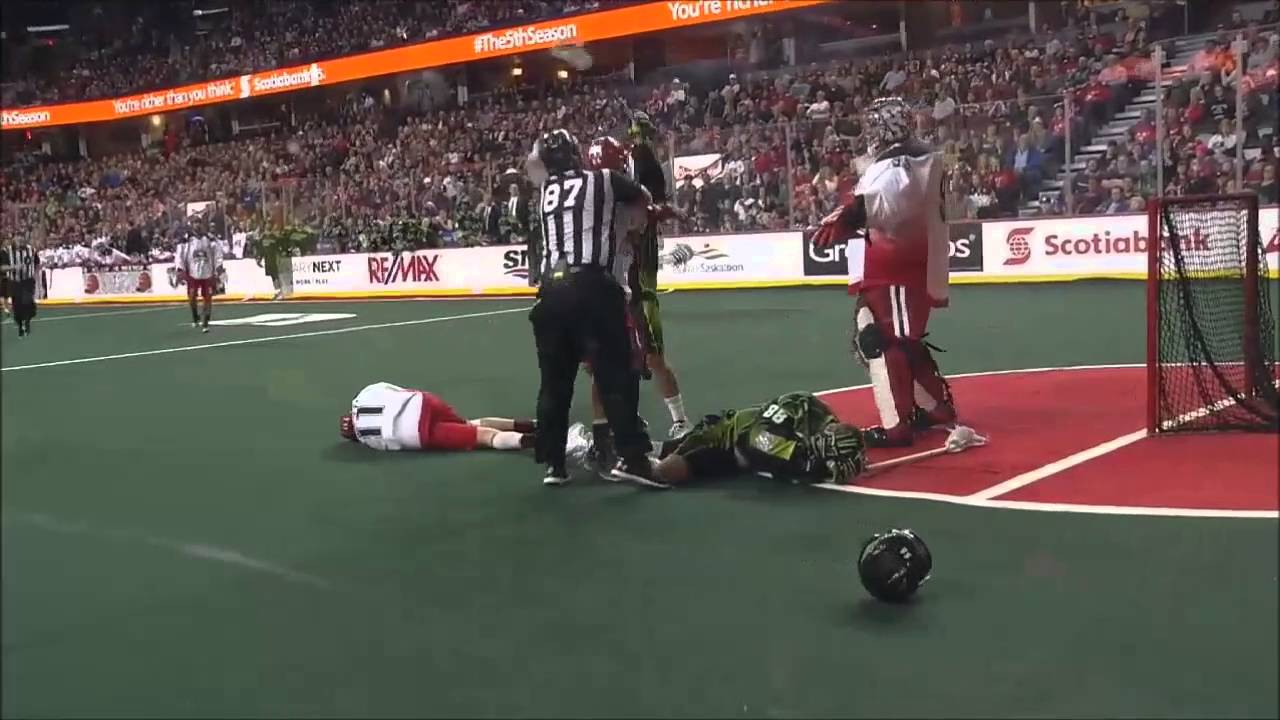 Brutal: Lacrosse sucker punch & ball to the face on same play