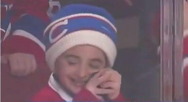 Young Montreal Canadiens fan has the cutest reaction to getting a puck