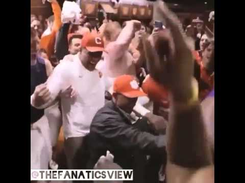 Clemson with an epic locker room celebration