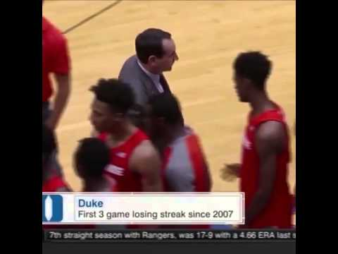 Coach K skips over Syracuse players during handshakes