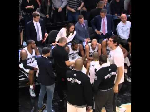 Did the San Antonio Spurs coach themselves during a timeout?