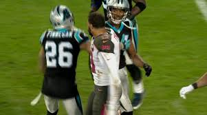 Mike Evans & Josh Norman get into altercation before half time