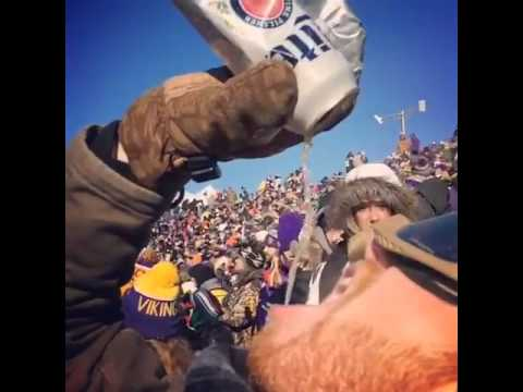 It was so cold for the Minnesota Vikings playoff game that beer became slush