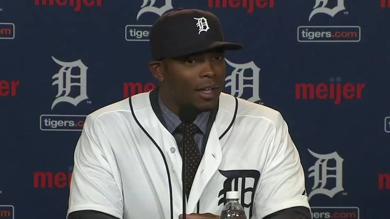 Justin Upton defends right handed hitters in Detroit