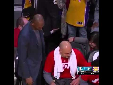 Kobe Bryant kicked Larry Nance off of the bench so he could sit down