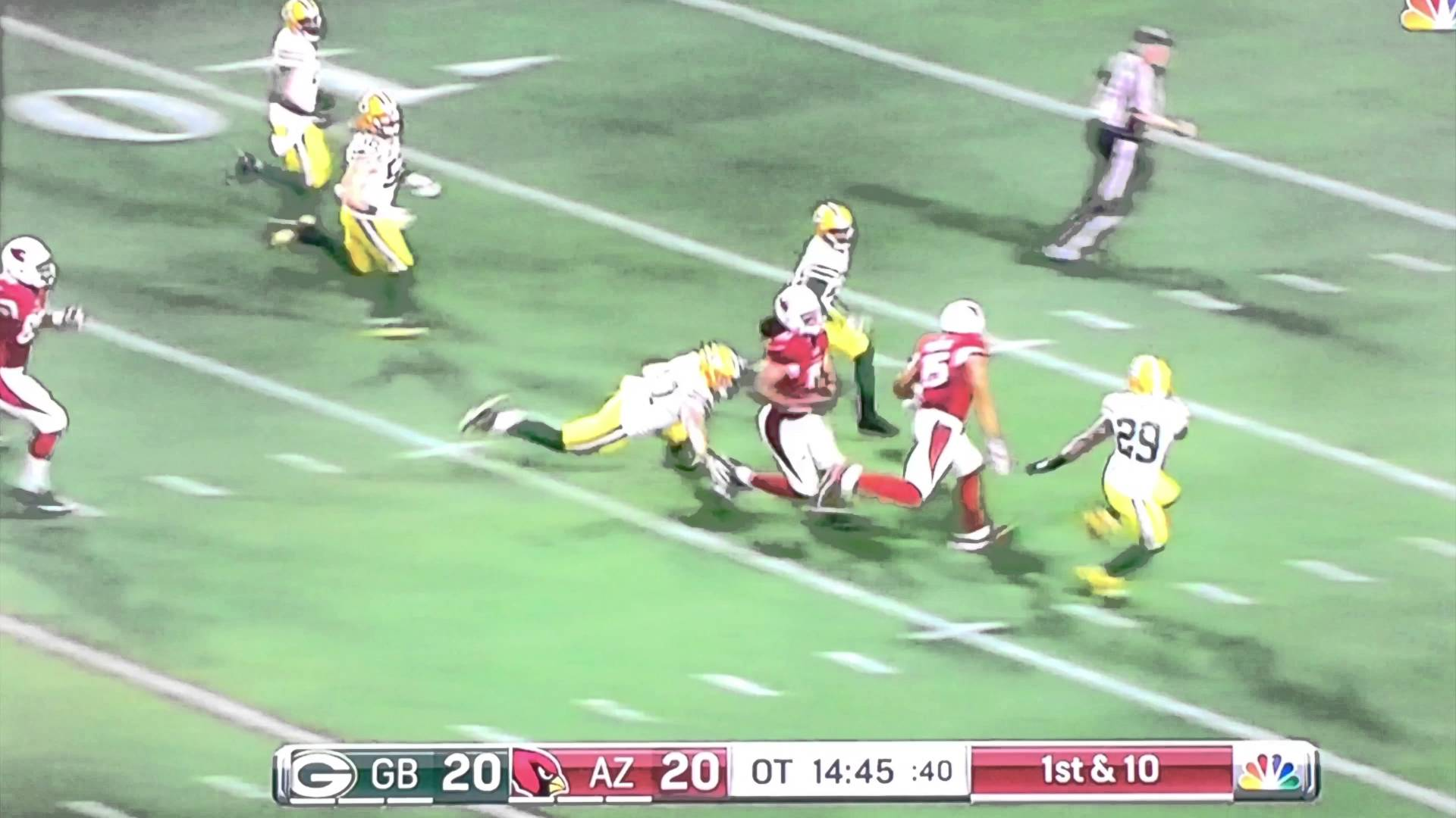 Larry Fitzgerald with an amazing 75 yard catch