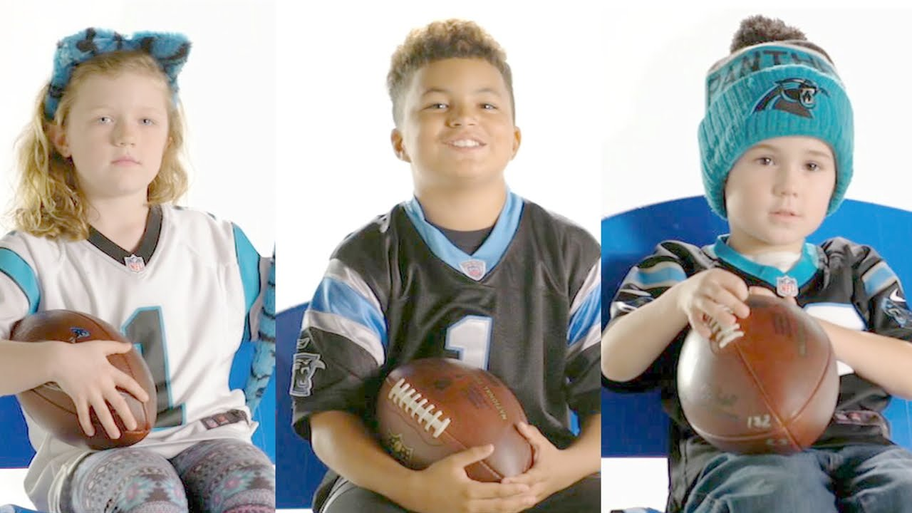 Little kids & Panthers speak on Cam Newton giving out touchdown balls